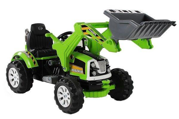 Excavator electric pentru copii cu Telecomanda BULLDOZER V12 #Green