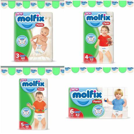 Памперсы подгузники Молфикс Molfix трусики размер 3, 4, 5, 6 и 7-ка.