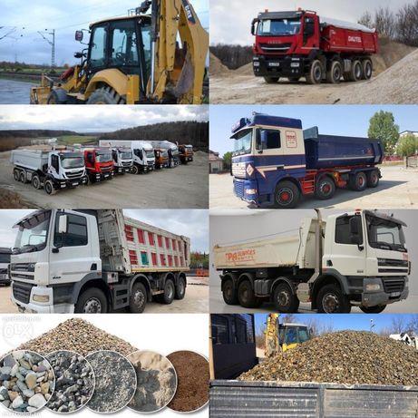 Balast,sorturi,nisip Olt/Jiu 3,5/20/40 tone,Pamant gazon,demolări mran