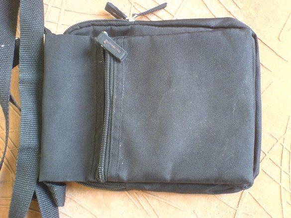 Мъжка презраменна чанта с 3 преграда ,кордуроподобна материя