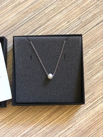Сребърна гривна проба 925 с перла