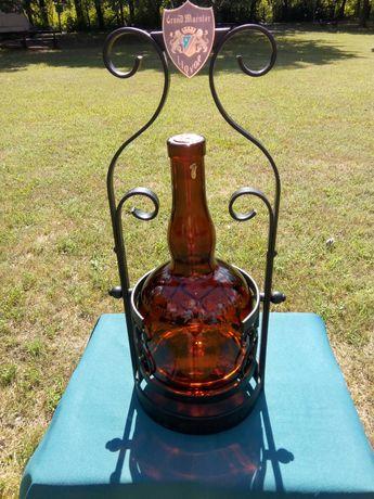 Suport fier forjat si sticla bauturi