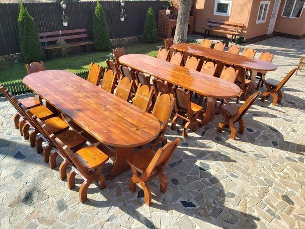 "Set ""FLORENTINA"" masa cu 12 scaune . Mobilier lemn masiv"