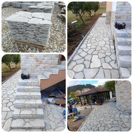 Гнайс естествен камък Антика подова настилка Тикла ЕООД