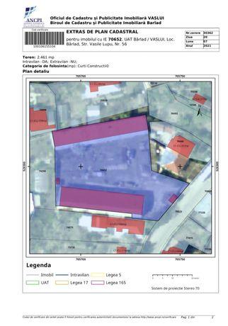 Teren centru Barlad, 2500mp pret mp135 negociabil accept schimburi