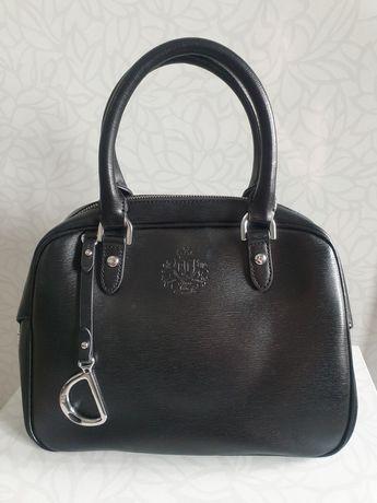 Geanta piele naturala Ralph Lauren noua superba impecabila neagra