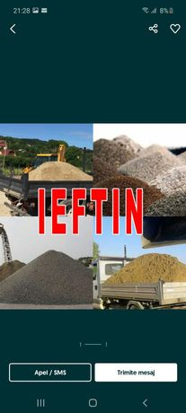Transport nisip moloz balastru sorturii amestecuri pamant pentru gazon