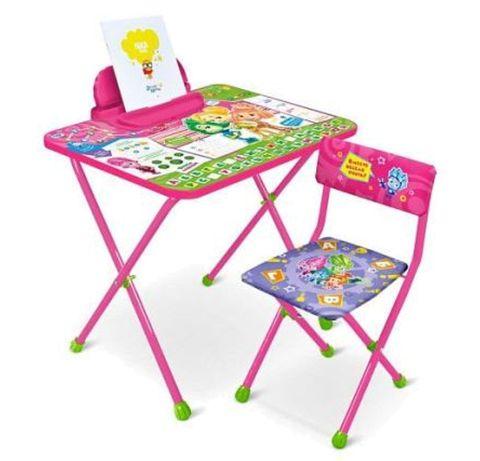 Парта стул комплект детской складной мебели Ника  Nika детский стол