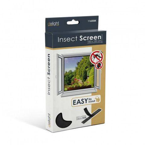 Plasa anti insecte pentru ferestre 100x100 negru, anti muste,anti