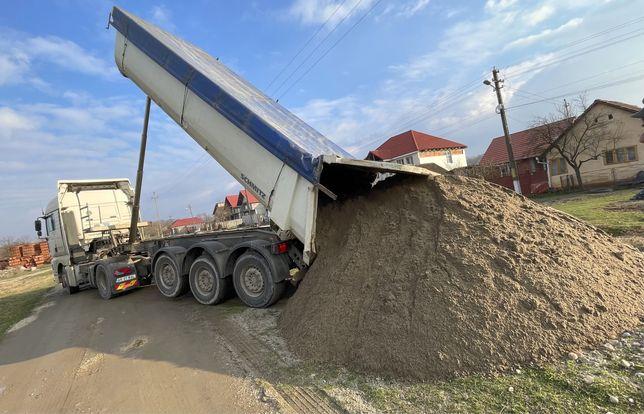 Transport/vand nisip balast sort refuz de ciur piatra criblura