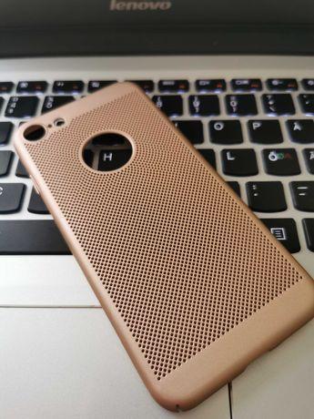 Husa luxury Iphone 7 perforata gold rose hard case