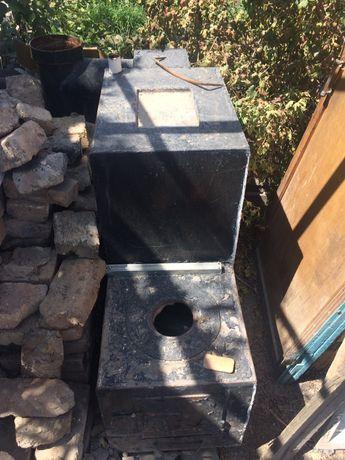 Печка газ уголь на 200кв