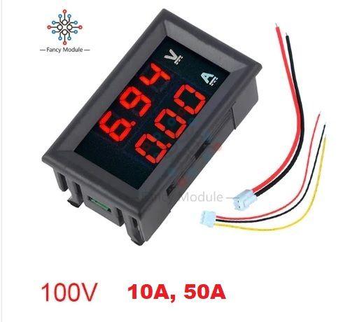 Цифровой амперметр 50 А вольтметр 0-100В DC