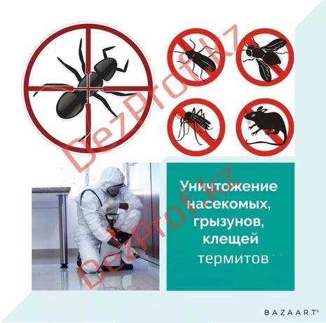 Дезинфекция клопов тараканов гарантия 100%