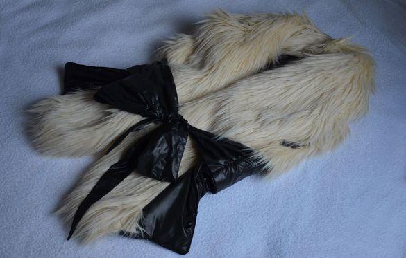 Промоция! Нов бутиков дамски елек с косъм