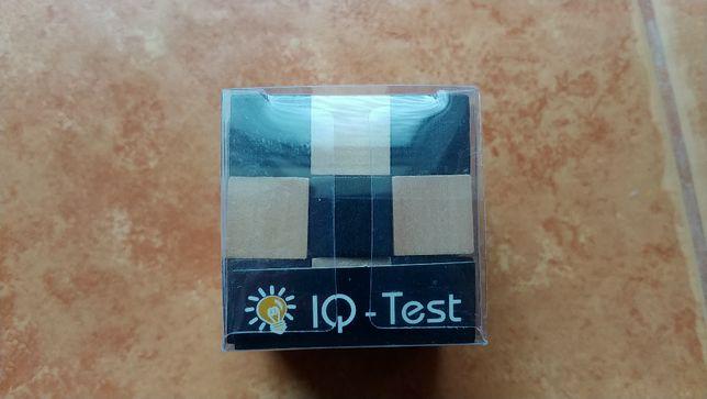 Joc logic pt copii Cub puzzle 3D lemn IQ test, nou, marca Fridolin