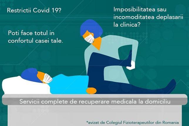 Recuperare medicală la domiciliu. Fizioterapie, kinetoterapie, masaj.