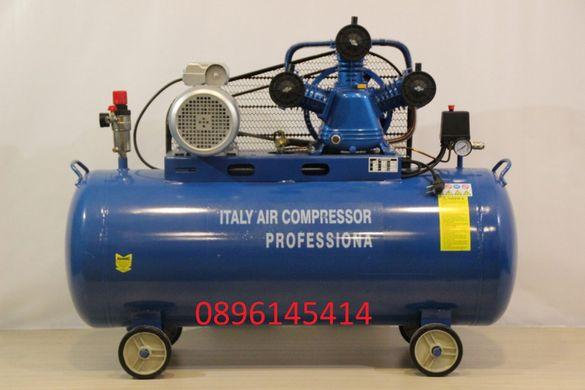 НОВО - Компресор за въздух 100 литра - (усилен дебит) + бояджийски сет