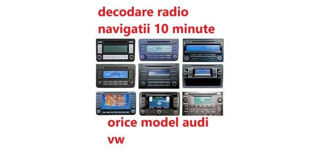 Deblocare decodare cod pin radio navigatie vw audi skoda rns e rns510
