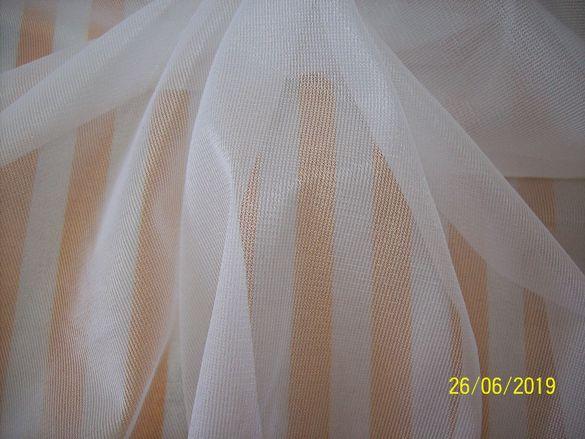 Еластичен плат ''ТЮЛ'' цвят бял