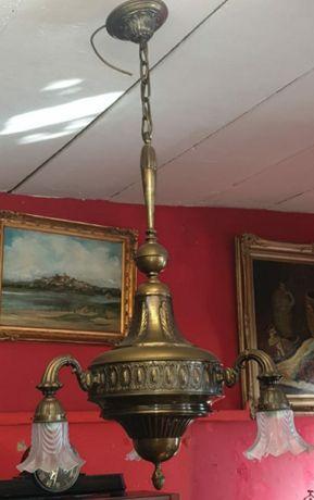 Lustra veche cu 3 brațe din bronz