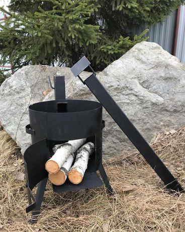 Казан на 12л с печью и шумовка в подарок