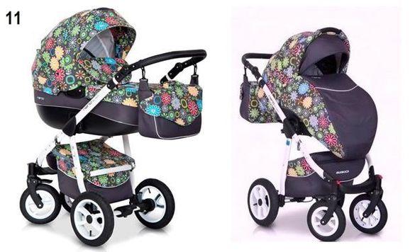 Бебешка количка RIKO Nano Flowers 3в1