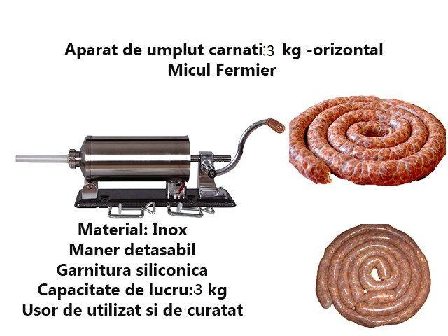 Carnatar Masina Aparat Manual Umplut Facut Carnati 3 kg Nou Bucuresti - imagine 1