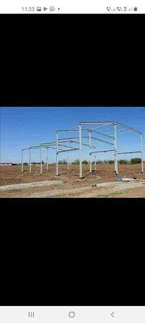 Vând hală metalică 11 m deschidere cu 35 m lungime oriunde în țară