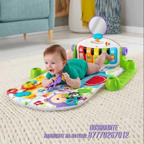 Развивающий коврик с пианино для малышей haunger Паровозик