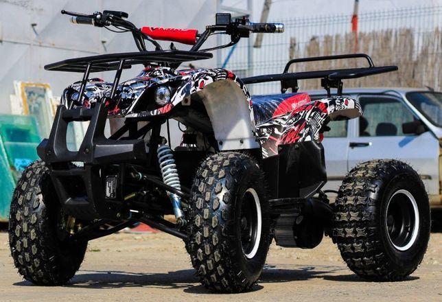 ATV electric Nitro Eco Toronto 1000W 48V Grafiti-ALB cu DIFERENTIAL
