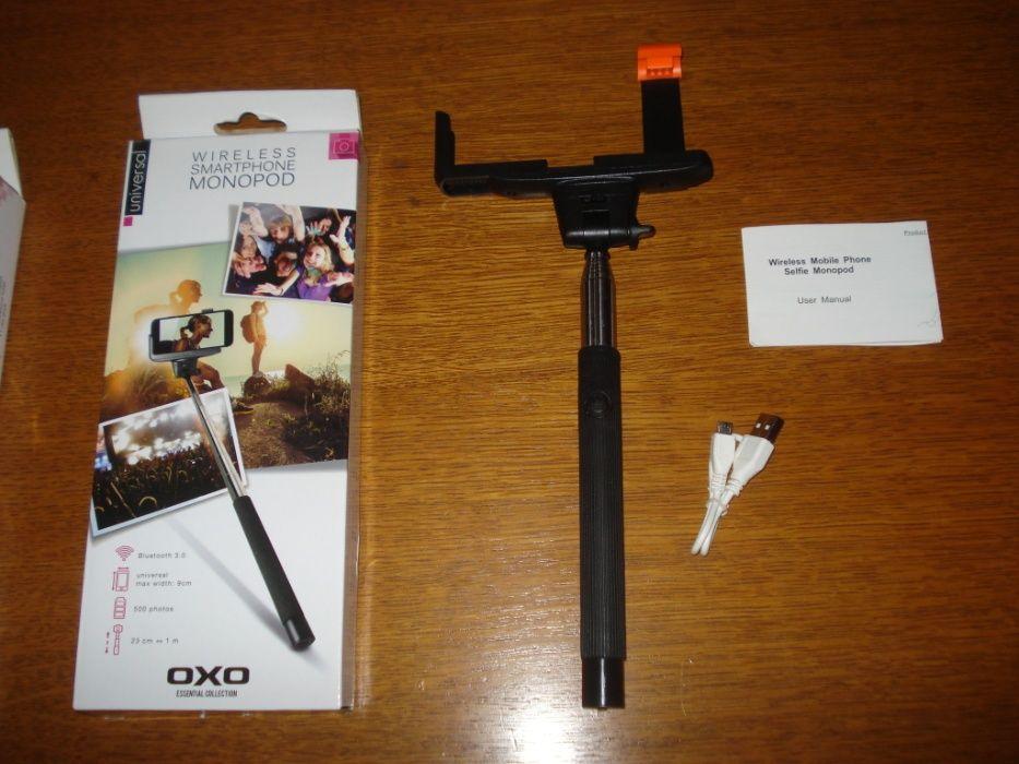 selfie stick wireless bluetooth monopod OXO 500 photos lungime 1m Manastiur - imagine 1