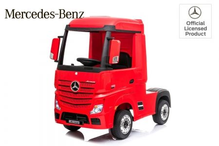 Camion electric copii Mercedes ACTROS 4x4 180W 12V PREMIUM #Rosu
