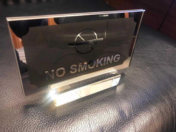 No smoking - placa de sticla pentru birou/masa