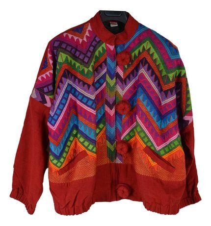 Geaca Dama Guatemala Vintage 60's Mairmea XXL Multicolora XP70
