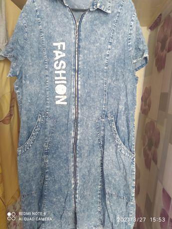 Женское платье джинса