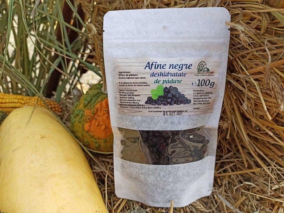 Afine negre de padure deshidratate - 100 gr Bistrita - imagine 1