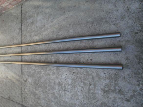 Алуминиев профил тръба и Ф 50 и ф40 - парчета