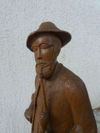 Vand statuieta/statuie/sculptura de lemn -jumatate de metru