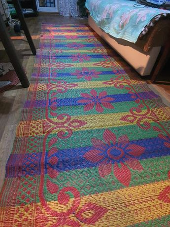 Циновка, коврик, яркая ковровая дорожка 91х170 см яркость