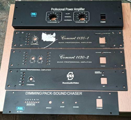 Panou frontal fata carcasa cutie amplificator mono stereo aluminiu