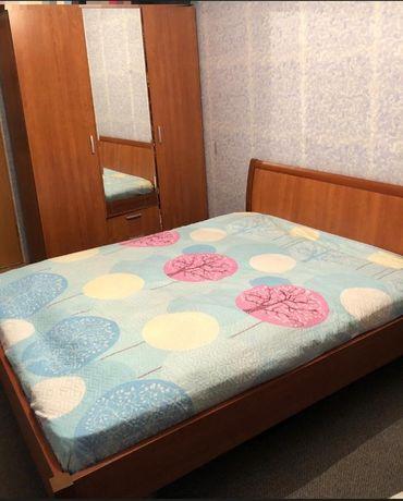 Кровать+шкаф цвет вишня
