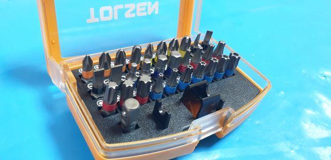 Set (32 buc) varfuri de surubelnita, varf magnetic, TOLSEN Profesional