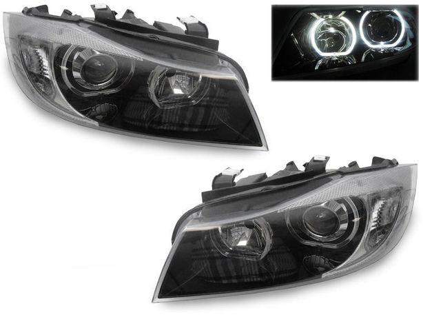 Faruri BMW E90 E91 Lupa Angel Eyes LED DEPO