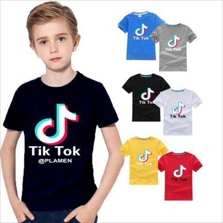 ХИТ!!! Детски тениски TIK-TOK / ТИК-ТОК с ИМЕ по ТВОЙ избор USERNAME!