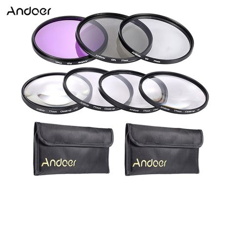 Andoer Lens Filter Kit UV + CPL + FLD + Close-up (1+2+4+10) 77mm