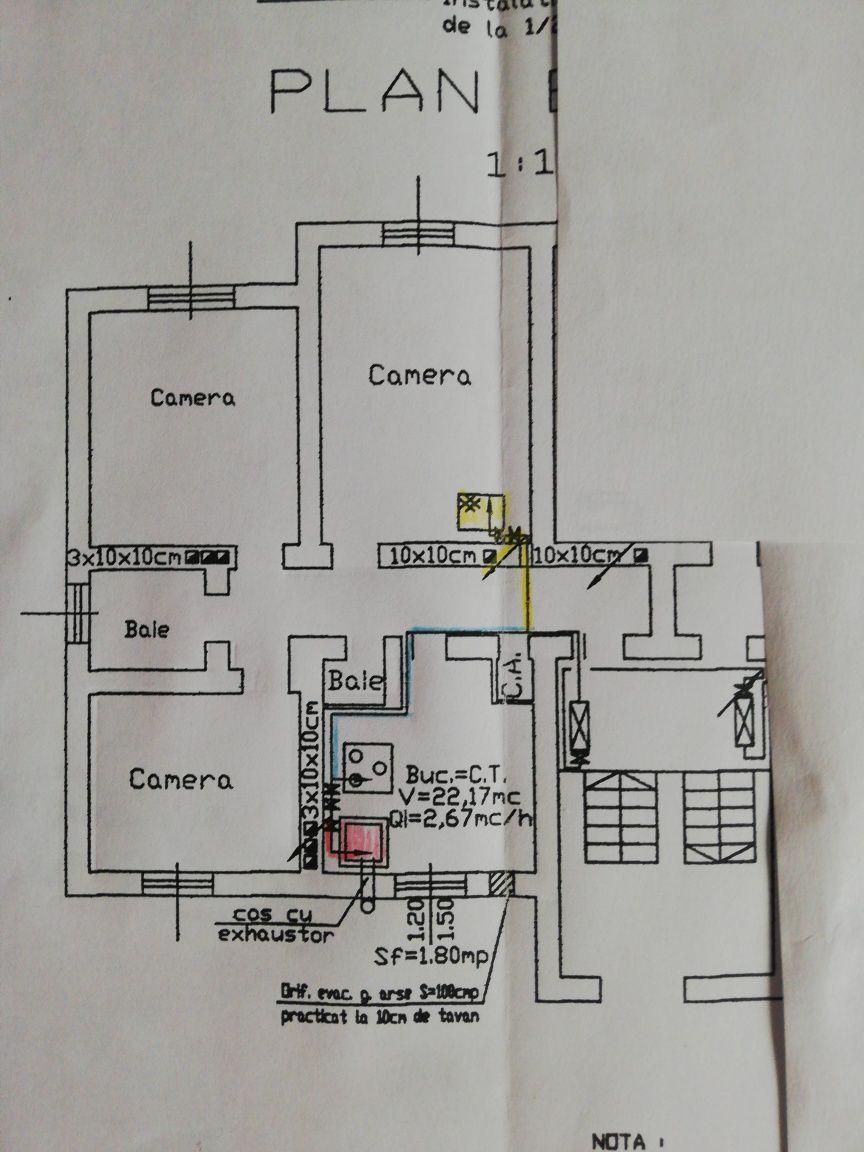 Vând apartament cu trei camere.