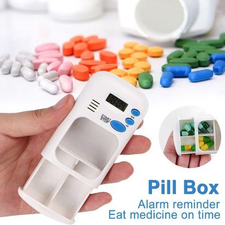 Органайзер за хапчета с аларма и дигитален дисплей