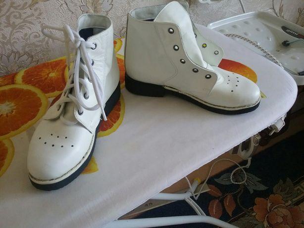 Ботинки демесезонные, кожаные, ортопедические, Алмаатинского завода