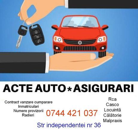 Acte auto/contract vanzare cumparare/inmatriculari auto/asigurari